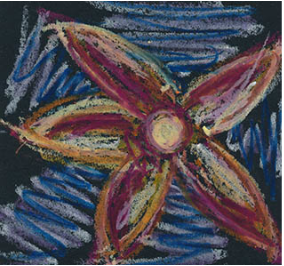 oil pastel starfish drawing