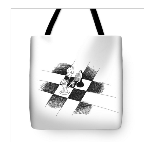 chess art travel bag