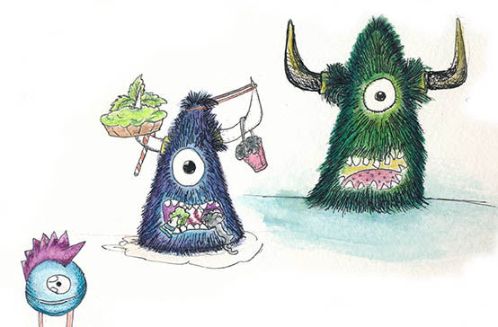 Monster Illustration for a new picture book