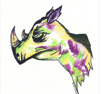 animal art Rhino
