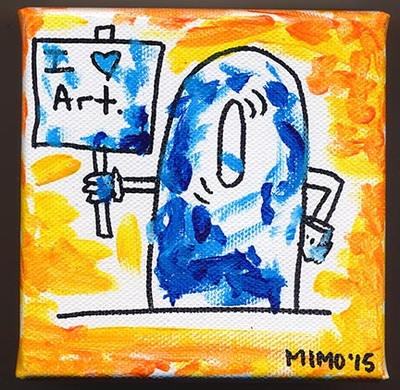 I love art. painting on canvas by Mimo art