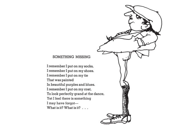 shel silverstein poem - something missing