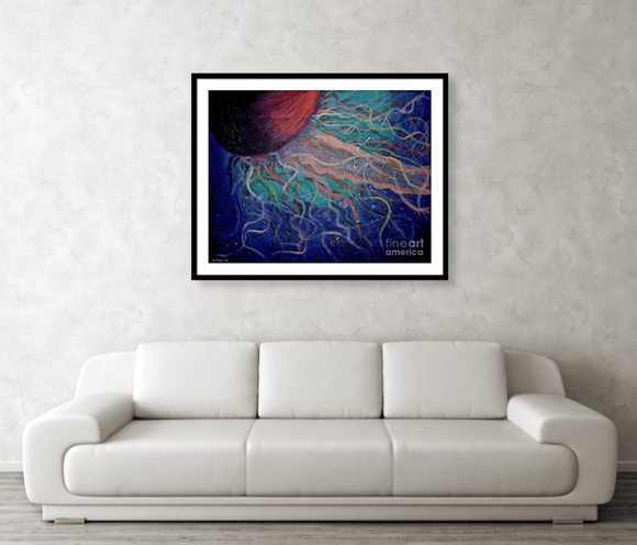 jellyfish wall art for home or office